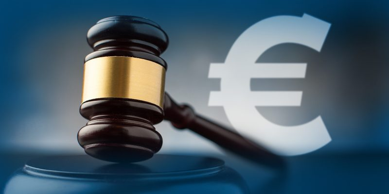 Image of gavel and Euro symbol