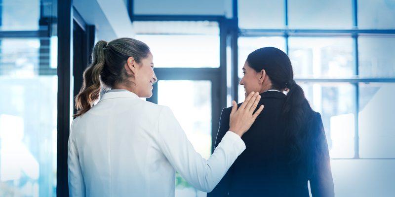 Women lawyers talking